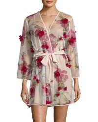 Rya Collection Floral Robe - Pink