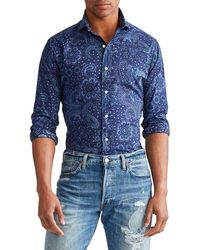 Polo Ralph Lauren Classic Fit Paisley Shirt - Blue