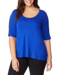 REBEL WILSON X ANGELS - Lace-up Sleeve Top - Lyst
