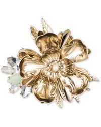 Marchesa 8mm Simulated Pearl Flower Pin - Metallic