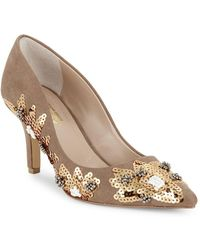 Charles David - Sophie Embelished Floral Court Shoes - Lyst