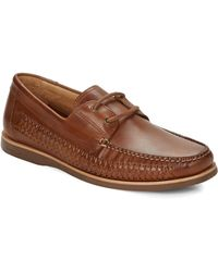 Tommy Bahama - Brenton Leather Laced Loafers - Lyst