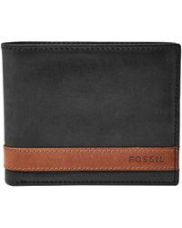 Fossil - Leather Bi-fold Wallet - Lyst