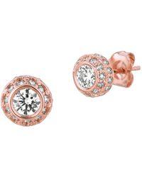Morris & David - 14k Rose Gold Diamond Stud Earrings - 1tcw - Lyst