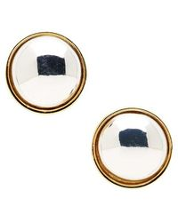Lauren by Ralph Lauren - Two-tone Button Stud Earrings - Lyst