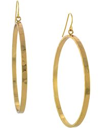 BCBGeneration - Goldtone Drop Hoop Earrings - Lyst