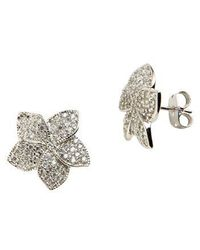 Lord & Taylor - Sterling Silver And Cubic Zirconia Stud Earrings - Lyst