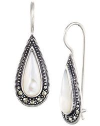 Lord & Taylor - Sterling Silver And Mother Of Pearl Teardrop Earrings - Lyst