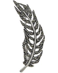 Lord & Taylor - Marcasite Feather Brooch - Lyst