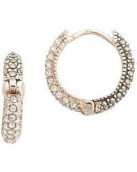 Judith Jack - Marcasite Huggie Hoop Earrings - Lyst