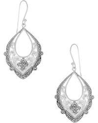 Lord & Taylor - Rhinestone Openwork Drop Earrings - Lyst