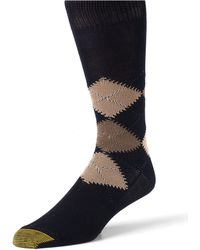 Goldtoe Argyle Socks - Blue