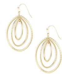 Anne Klein - Goldtone Clip-on Hoop Earrings - Lyst
