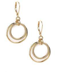 Anne Klein - Goldtone Orbital Hoop Earrings - Lyst
