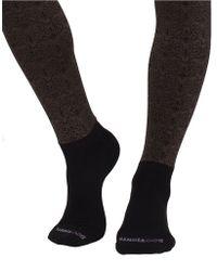 Bootights Filigree Scoll Sock Tights - Black