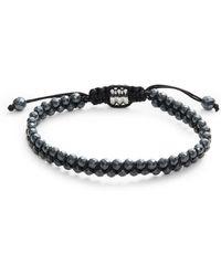 John Zack - Hematite Stretch Bracelet - Lyst