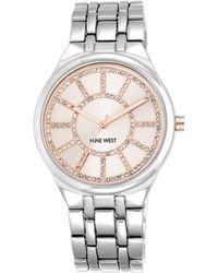 Nine West - Crystal Round Dial Quartz Watch - Lyst