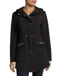 Jessica Simpson - Hooded Drawstring Raincoat - Lyst