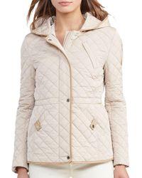 Lauren by Ralph Lauren - Quilted Hooded Coat - Lyst