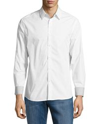 Kenneth Cole - Neat Patterned Sportshirt - Lyst