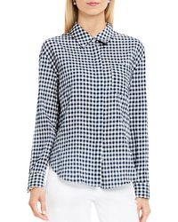 Two By Vince Camuto - Gingham Button-down Shirt - Lyst