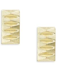 House of Harlow 1960 - Pyramid Accented Rectangular Stud Earrings - Lyst
