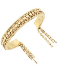 Cole Haan - 1/25 Metropolitan Club Gold Tone Brass Chain Fringe Bracelet - Lyst