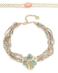 Nanette Lepore - Two-piece Choker And Beaded Floral Collar Necklace Set - Lyst