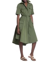 Tracy Reese Military Shirt Dress - Green