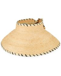Kathy Jeanne - Bow-accented Straw Visor - Lyst
