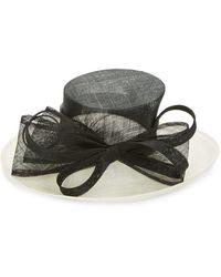 Kathy Jeanne - Large Decorative Mesh Hat - Lyst