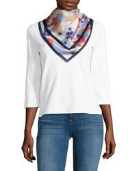 BCBGMAXAZRIA - Square Butterfly Print Scarf - Lyst