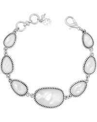 Lucky Brand - Mother-of-pearl & Crystal Line Bracelet - Lyst