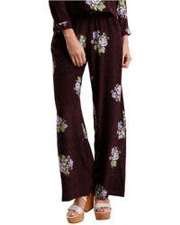 Svilu - Floral Print Silk Long Pants - Lyst