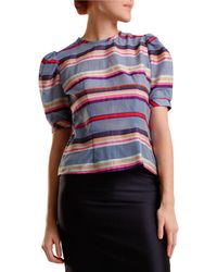 Nikki Chasin - Delilah Striped Top - Lyst