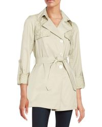 Sam Edelman - Lace-trimmed Trench Coat - Lyst