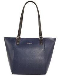 Vera Bradley Ella Small Pebbled Leather Tote - Blue