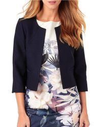 Phase Eight - Three Quarter Sleeve Jacket - Lyst