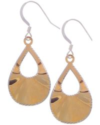 Lord & Taylor - Goldplated Teardrop Earrings - Lyst