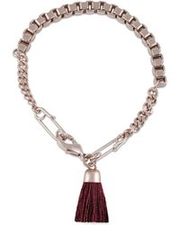 French Connection - The Fringe And Fury Safety Pin Tassel Bracelet - Lyst