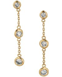 Morris & David - Diamonds And 14k Yellow Gold Dangle Earrings - Lyst
