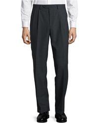 Lauren by Ralph Lauren - Straight-leg Wool-blend Pants - Lyst