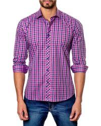 Jared Lang - Plaid Long Sleeve Trim Fit Shirt - Lyst