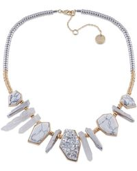 French Connection - Who Ya Calling A Druzy Dagger Frontal Necklace - Lyst