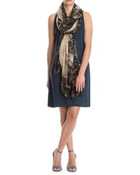 NIC+ZOE - Handpainted Scale-print Fringed Scarf - Lyst