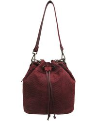 Chinese Laundry Ally Suede Bucket Crossbody Bag - Multicolor