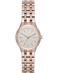 DKNY Park Slope Rose Goldtone Stainless Steel Link Bracelet Watch, Ny2492 - Metallic