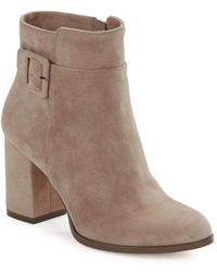 424 Fifth Layna Suede Ankle Boots - Blue