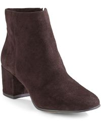424 Fifth Elyssa Suede Ankle Boots - Multicolour