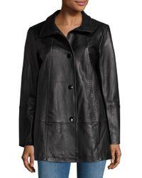 Gallery - Leather Walking Coat - Lyst